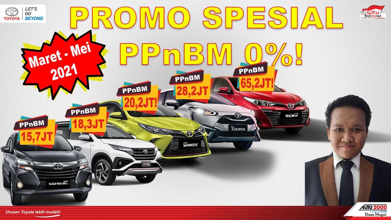 Promo Toyota Jakarta PPNBM 2021